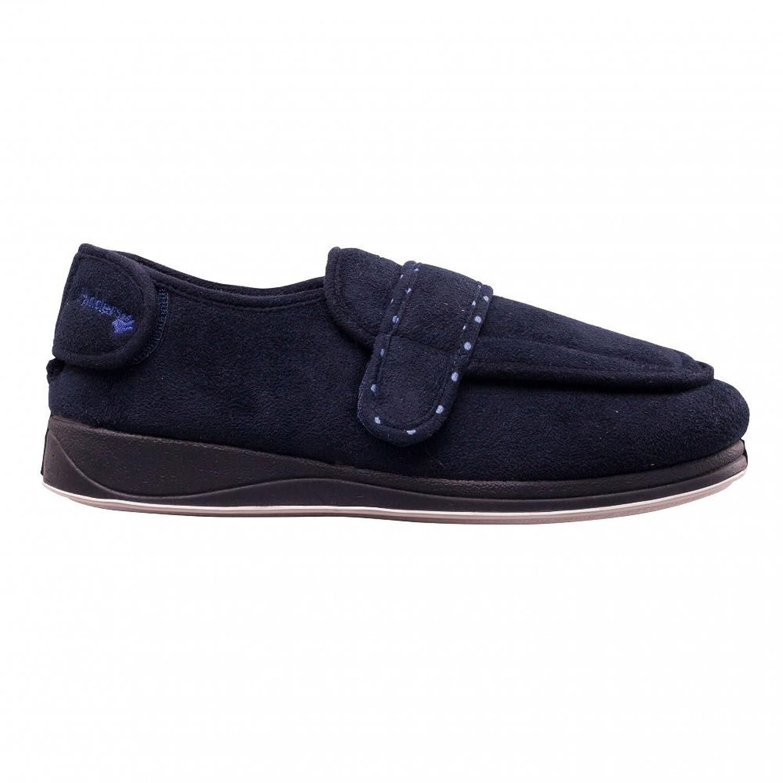 ENFOLD Unisex Hausschuhe, Klettverschluss, Extra breit, EE, Hausschuhe, blau  (Navy): Amazon.de: Schuhe & Handtaschen