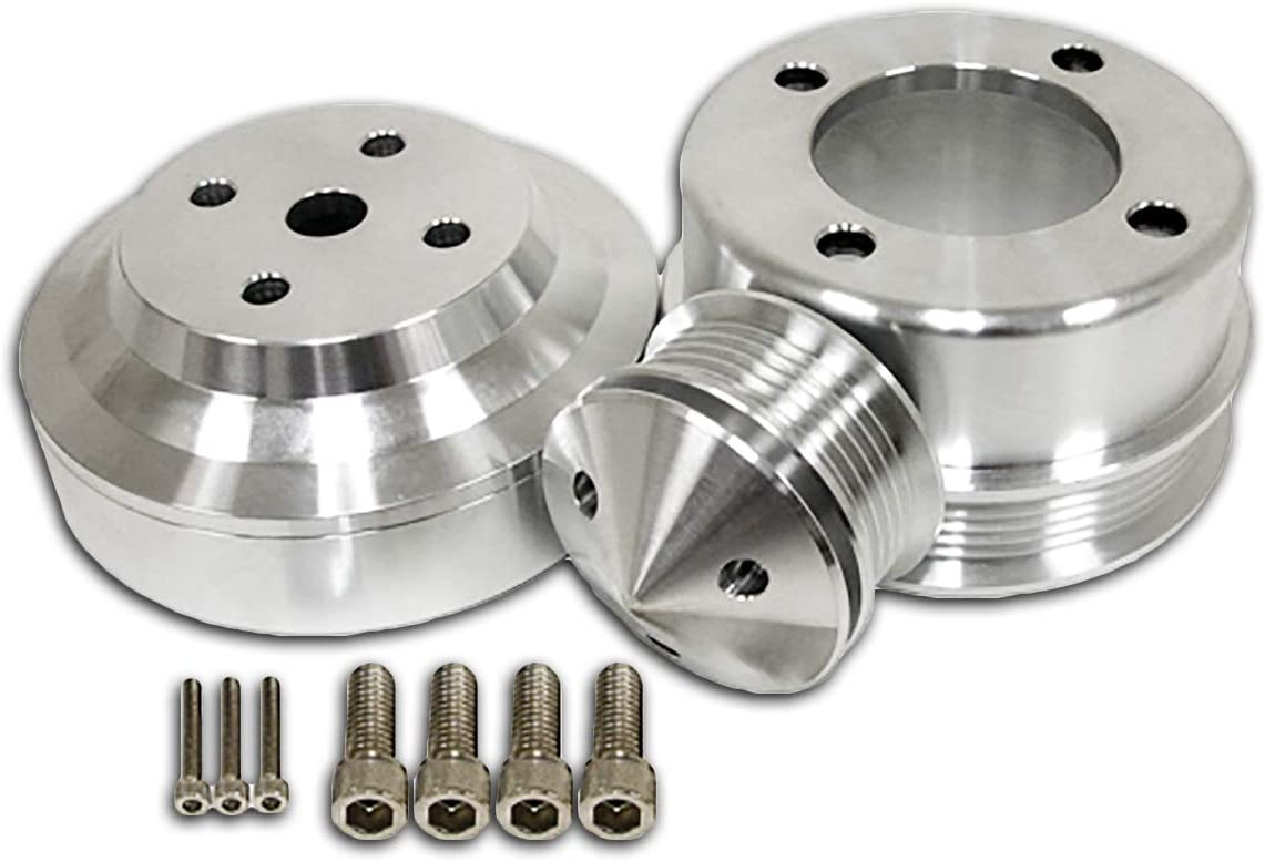 Fits 1979-1993 Ford Mustang 5.0L Serpentine Pulley Set Machined Billet Aluminum