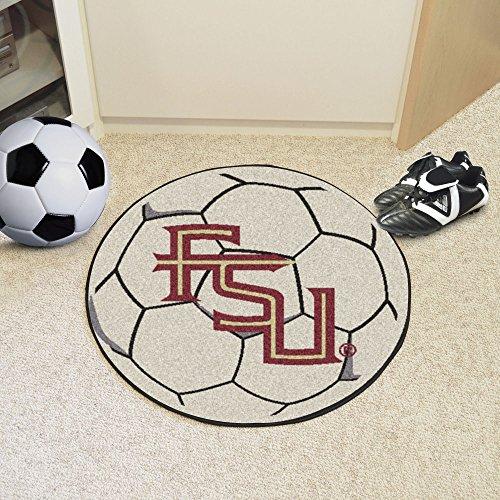 Fan Mats 4927 FSU - Florida State University Seminoles 27'' Diameter Soccer Ball Shaped Area Rug by Fanmats