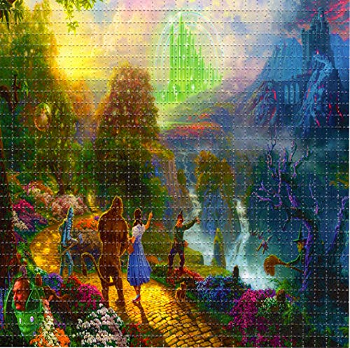 Blotter Art Wizard of Oz Design Psychedelic Print Perforated Sheet, Acid Free LSD Art Paper 30x30, 900 tabs, 7.5 inch, in Clear Protective Sleeve