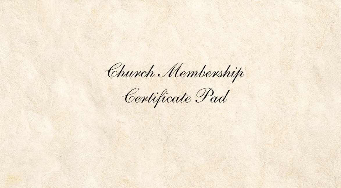 Amazon Church Membership Certificate 26 Pack Prints Posters