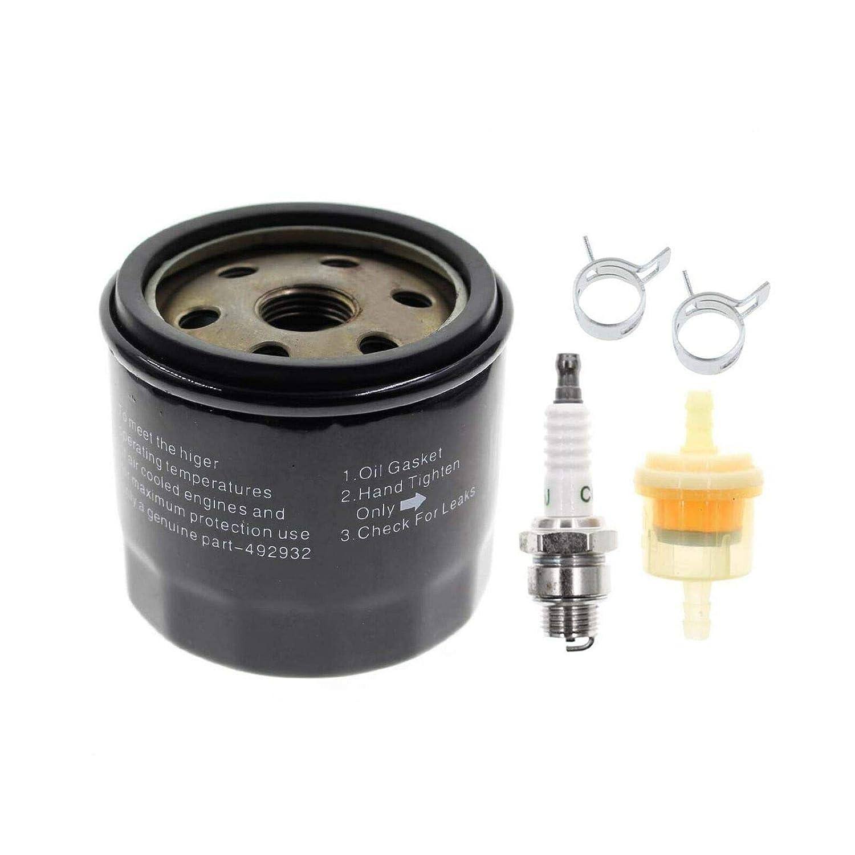 Supermotorparts Oil Filter Fuel Spark Plug for Craftsman LTX1000 LT2000  John Deere L110 D110