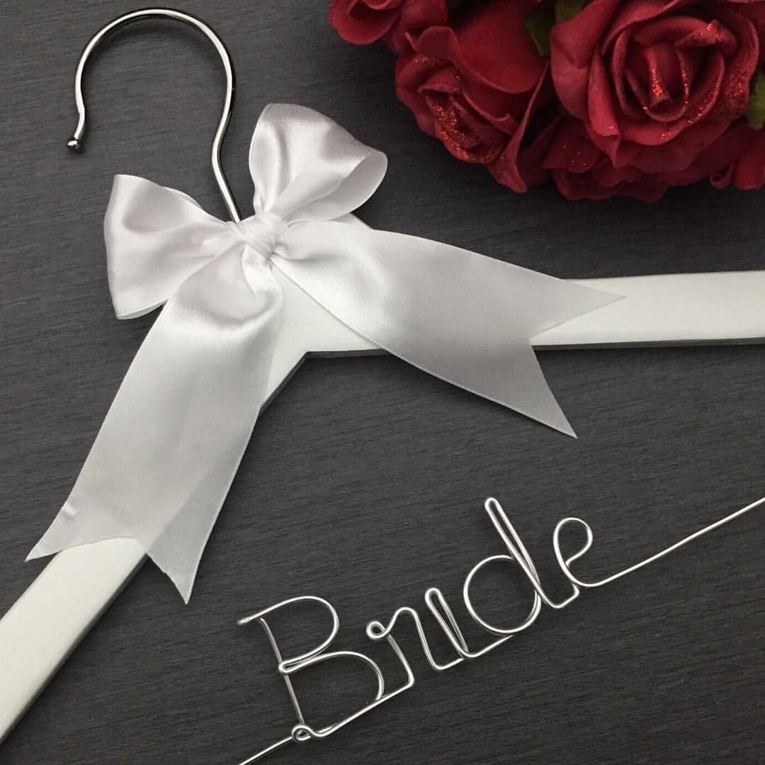 White Bride Wedding Dress Hanger