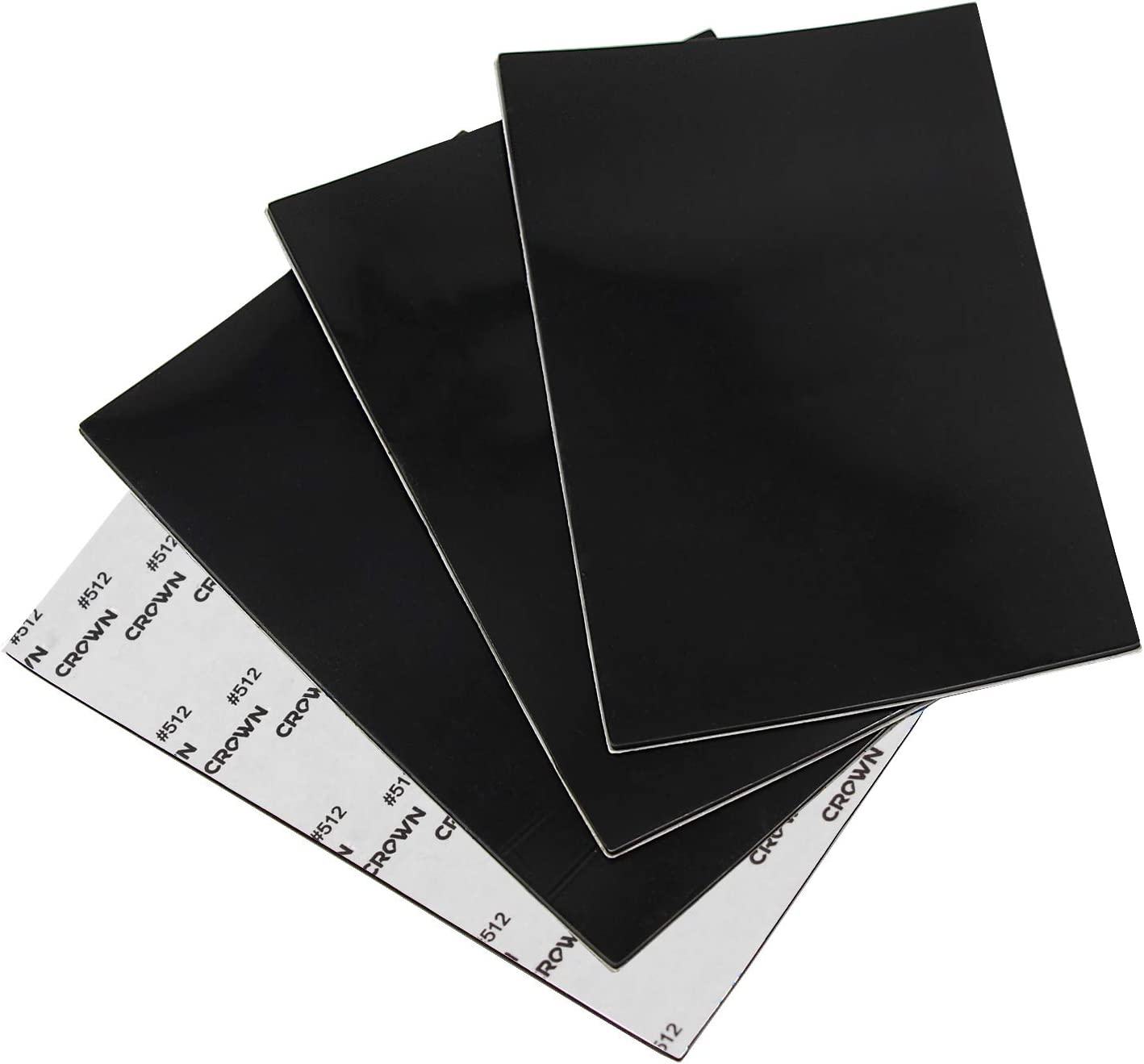 4 Pack of Rubber Pads 4 x 6 inch by 1/12 Non Slip Furniture Pads Floor Protectors Self Adhesive, Rubber Sheet Self-Stick Silicone Gasket Material Non Skid Furniture Grippers - Black