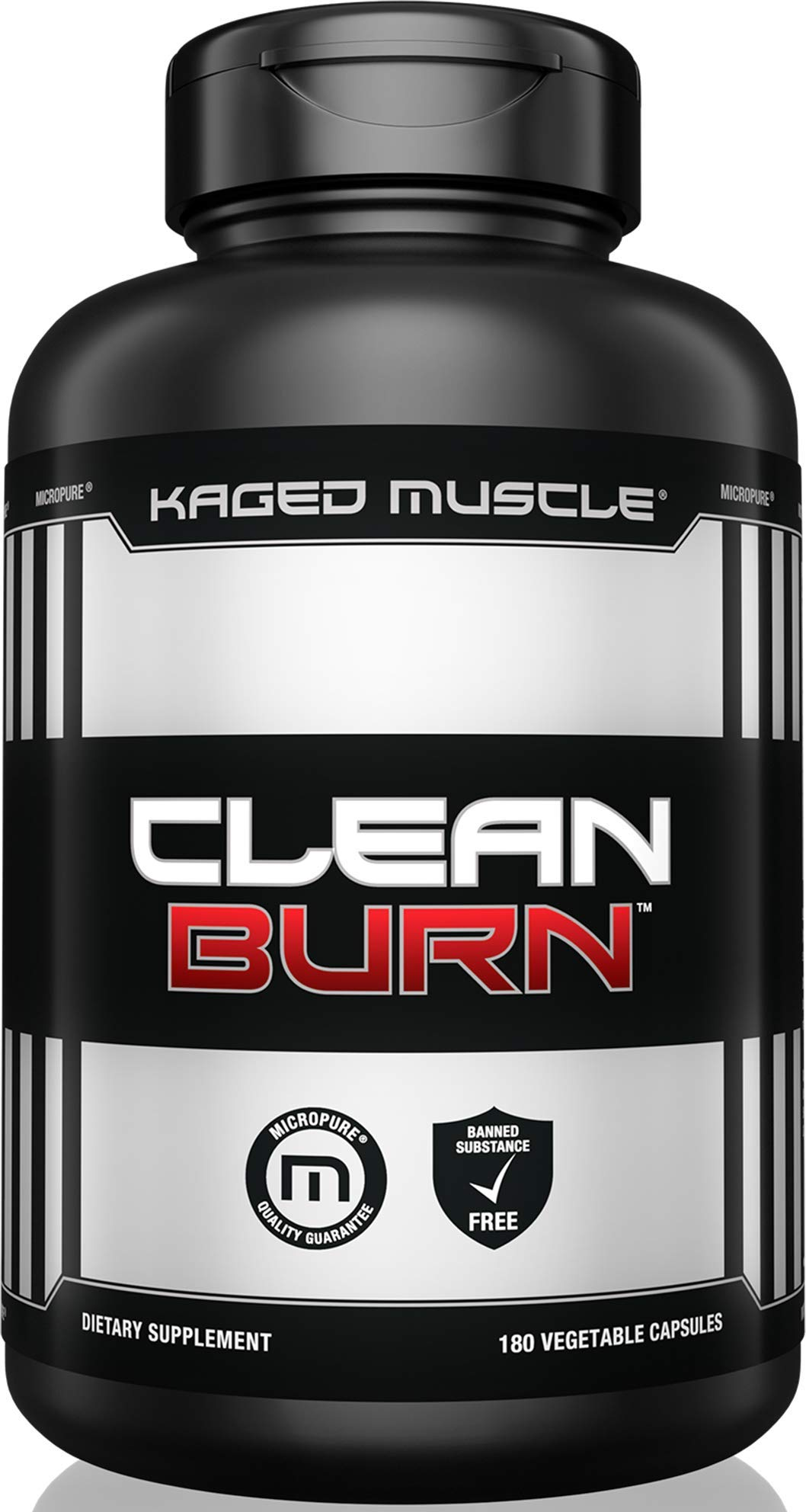 Kaged Muscle, Clean Burn Stimulant-Free Weight Loss Supplement for Men & Women, 180 Veggie Diet Pills