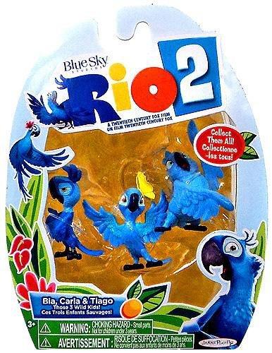 Rio 2 Movie Bia, Carla, & Tiago Mini Figures 3-pack, 2 Inch