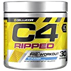 Cellucor C4 Ripped Pre-workout Icy Blue Razz Dietary Supplement, NET WT. 180g, 6.34
