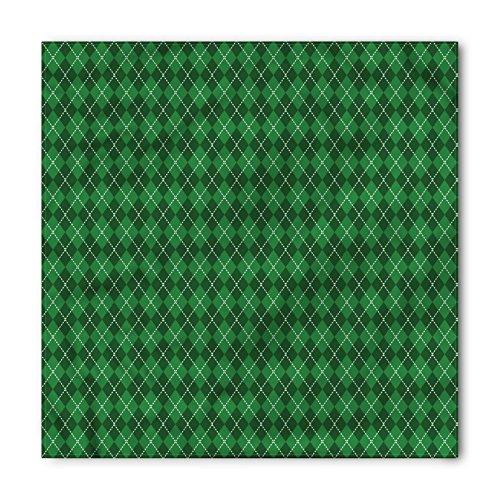 (Ambesonne Unisex Bandana, Irish Vintage Argyle Tartan, Green White)