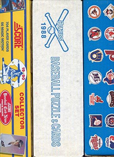 1988 1989 Donruss 1990 Score Baseball Card Complete set FACTORY BOX Collection (1988 Donruss Baseball)