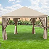 Garden Winds Bay Point Gazebo Replacement Canopy Top Cover – RipLock 350