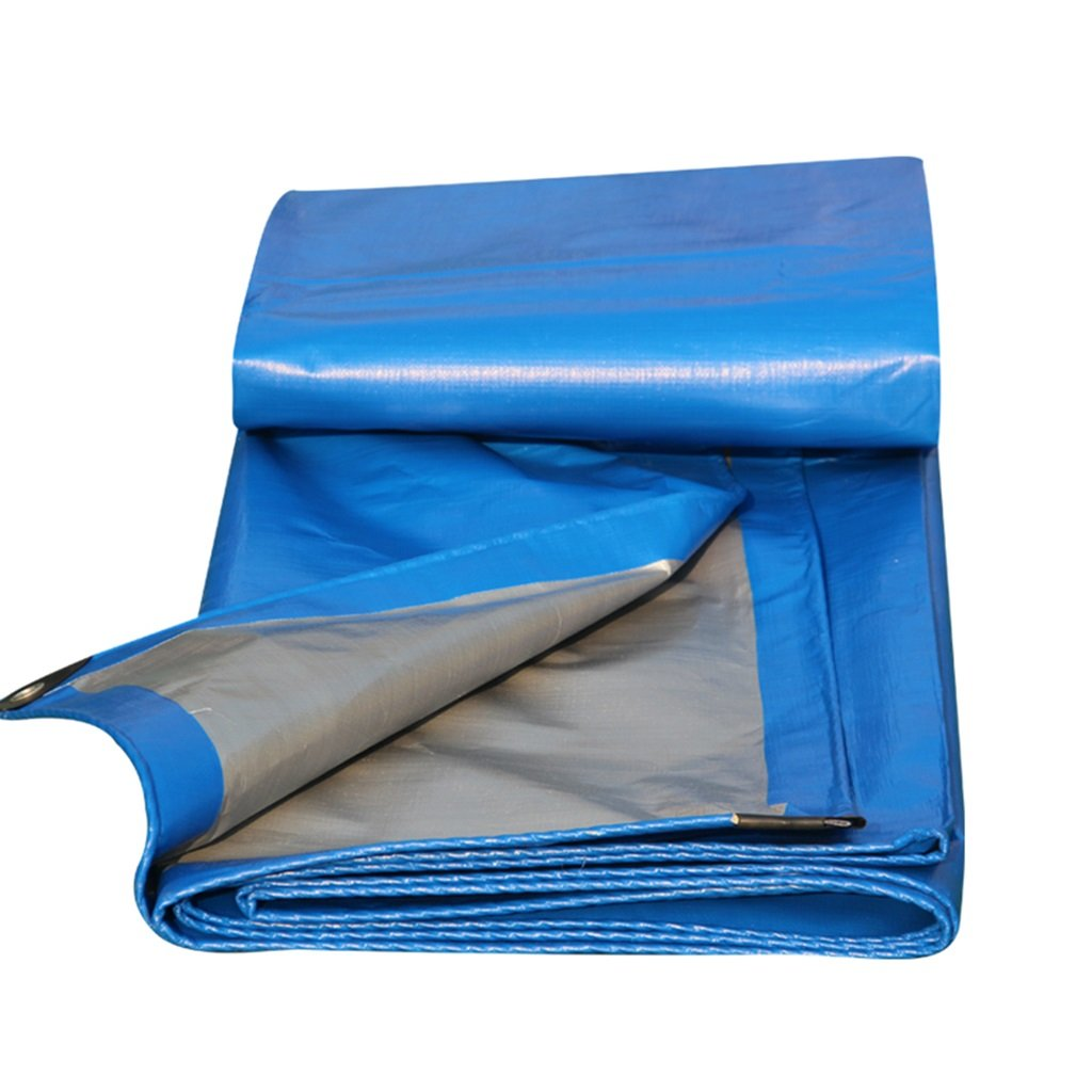 Tarpaulin防雨日焼け止め耐性ポンチョトラックレインカバーTarpaulinキャンバスプラスチックTarpaulin肥厚 (Color : Blue-Silver, Size : 4m*5m) 4m*5m Blue-Silver B07H2S8GSX