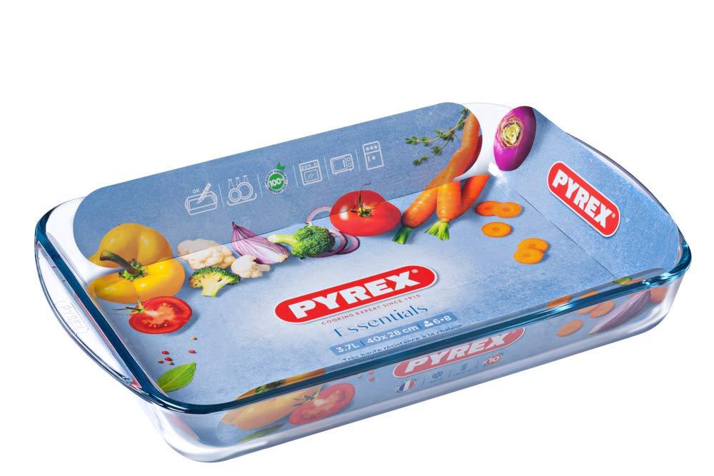 Pyrex - Essentials - Plat à Lasagnes Rectangulaire en Verre 40x28 cm   Amazon.fr  Cuisine   Maison cd62705db3be