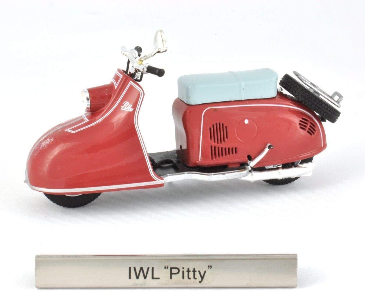 """IWL /""""Pitty/"""" DDR Motorrad Fertigmodell Maßstab 1:24"""