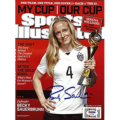66375ab91dc Becky Sauerbrunn Autographed Sports Illustrated Magazine Team USA PSA/DNA  ITP