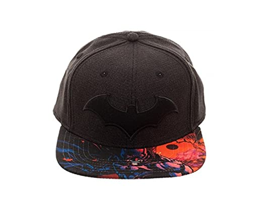 huge discount 88e1a 1b015 ... new zealand batman dc comics arkham logo black snapback hat c96e9 a76e4