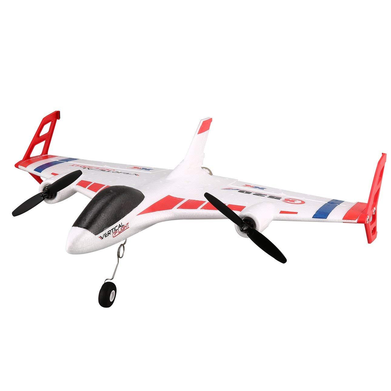 Ballylelly RC Drone XK X520 6CH 3D   6G Aereo VTOL Decollo verdeicale Land Delta Wing RC Drone a Coda Fissa Giocattolo Aereo con Interruttore di modalità LED Light of