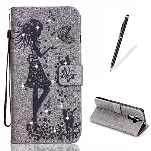 HUAWEI Mate 9 Leather Wallet Case,KaseHom Fairy Angel Girl