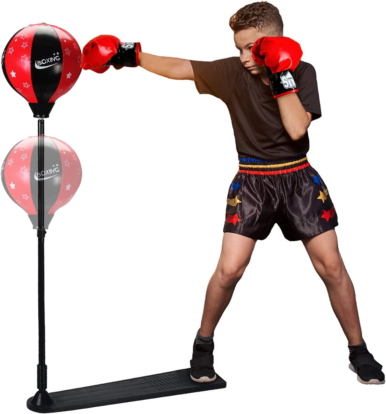 ToyVelt Punching Bag For Kids Boxing Set Includes Gloves And...