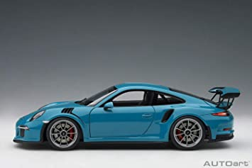 Amazon.com: AUTOart Porsche 911 (991) GT3 RS Miami Blue with Dark Grey Wheels 1/18 Model Car 78167: Toys & Games