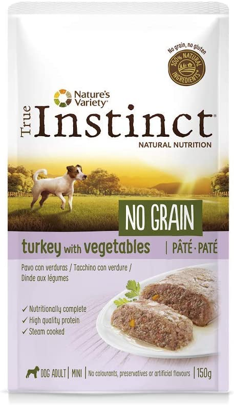 True Instinct No Grain - Natures Variety - Mini Paté sin Cereales de Pavo para Perros 150 gr - Pack de 8