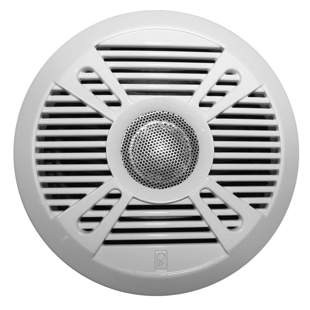51582 PolyPlanar MA7050 5 2-Way Marine Speaker w//2 Grills White /& Graphite
