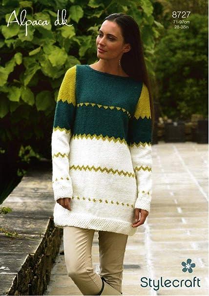 f7f823fc3 Stylecraft Alpaca DK Cardigan Knitting Pattern 8726  Amazon.co.uk  Kitchen    Home