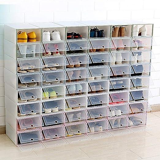 Caja de almacenamiento de zapatos, caja de zapatos tiene 6 juegos ...