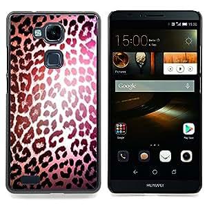 "For HUAWEI Ascend MATE 7 Case , Patrón Leopard luz reflectante Piel"" - Diseño Patrón Teléfono Caso Cubierta Case Bumper Duro Protección Case Cover Funda"