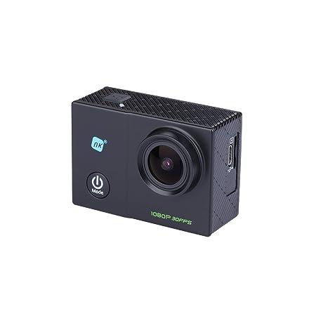 NK Dive Cámara Deportiva subacuática 1080p (Alta Definición), Carcasa Impermeable, 120º 4G, Pantalla LCD, Sensor GC0309, 700mAh Negro (15 Accesorios ...