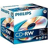 Philips CDRW-80 (12x) 10pk Slim Jewel Case
