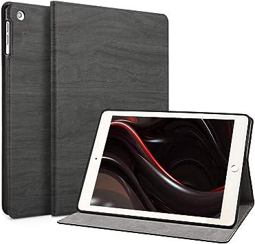 Funda para iPad 2/3/4, FANSONG Caso Protectora de Cuero sintético con Soporte Árbol Texured Serie Bifold, función de Apagado automático para Apple iPad 2, iPad 3, iPad 4(Negro): Amazon.es: Electrónica