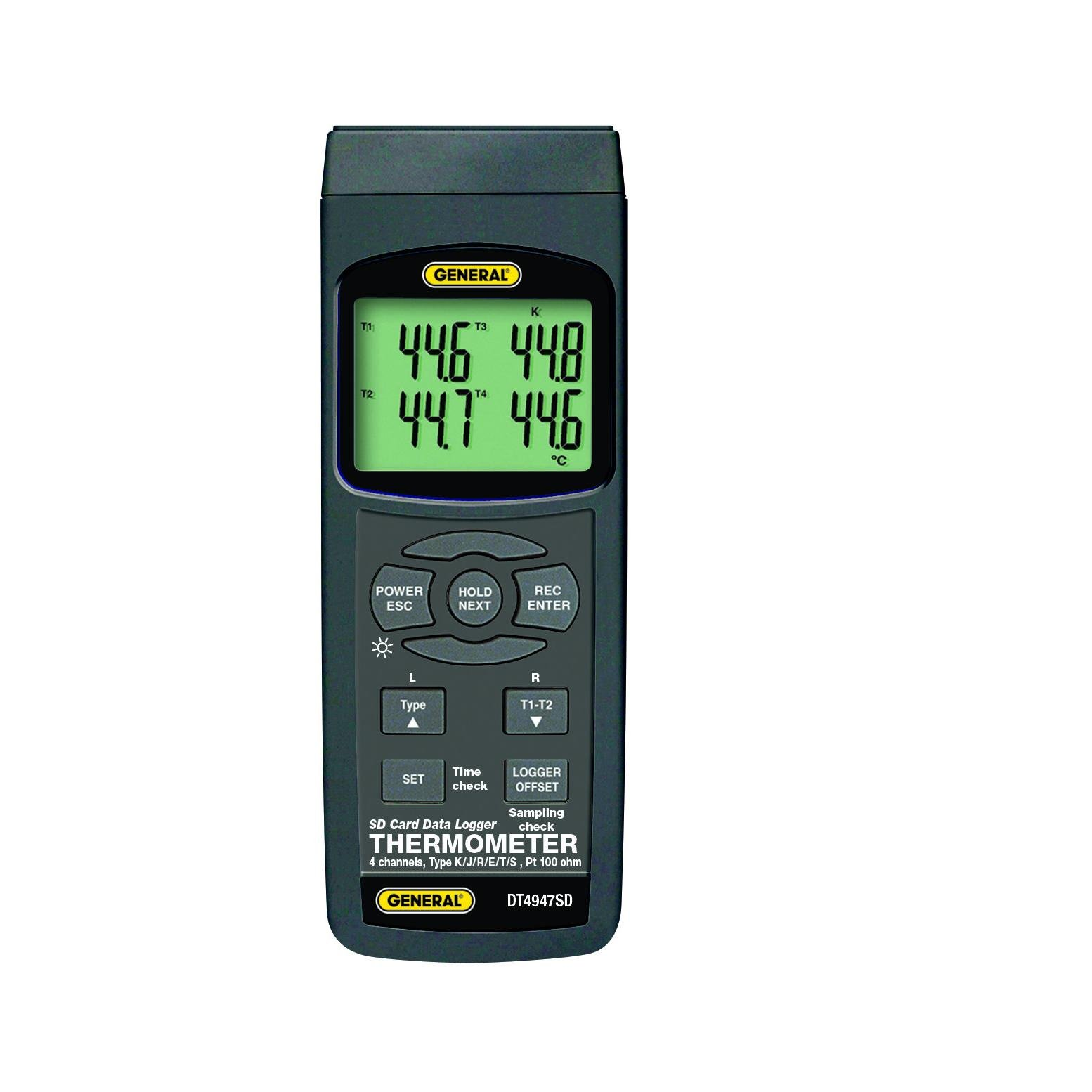 Data Logging 4 Channel Digital Thermometer W/ SD Card