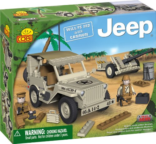 COBI Small Army Jeep Willy's M38 Historical Replica with Cannon, 180 Piece Set (M38 Jeep)