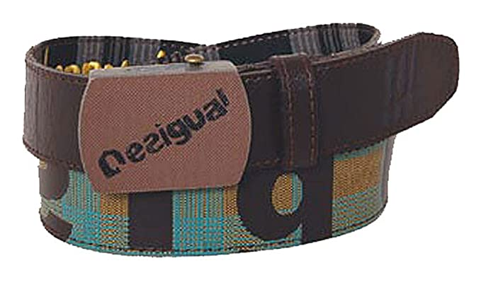 Desigual Ceinture unisex fashion belt synthetic brown gold turq  Amazon.fr   Vêtements et accessoires 47d8beb0865