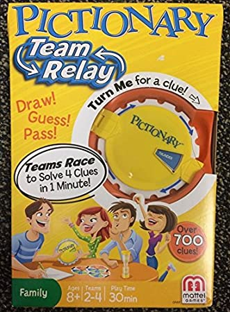 Nuevo equipo de Pictionary relé Juego cvf57 Mattel familia Draw Pass Guess niños niñas 8 +. HN # GG _ 634t6344 g134548ty46907: Amazon.es: Juguetes y juegos