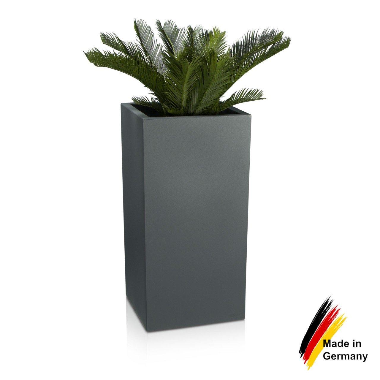Pflanzkübel TORRE 80 Kunststoff Pflanzgefäß Blumenkübel, 40x40x80 cm ...