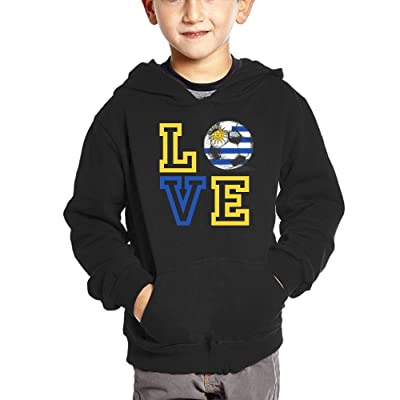 Qij Cloth 2018 Love Uruguay Football Boy Sweatshirts Cotton Soft and Cozy Jacket Hoodies