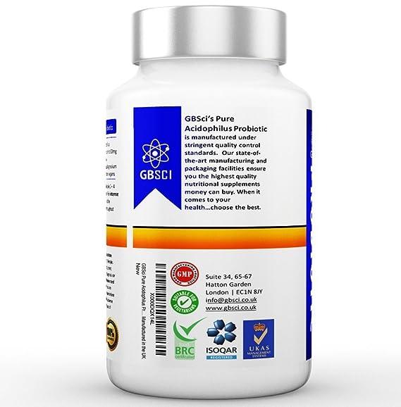 Probiótico Acidophilus Puro GBSci | Mejora el estado de ánimo ...