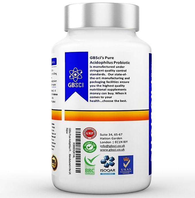 Probiótico Acidophilus Puro GBSci | Mejora el estado de ...