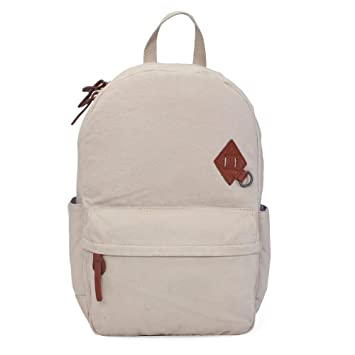 Bareskin Cream Color Canvas And Brown Color Genuine Leather Trimmed Laptop  backpack For Men Laptop Bags For Men Office Bag For 15 Inch And Below Laptop Hand  ... b2115b20d3