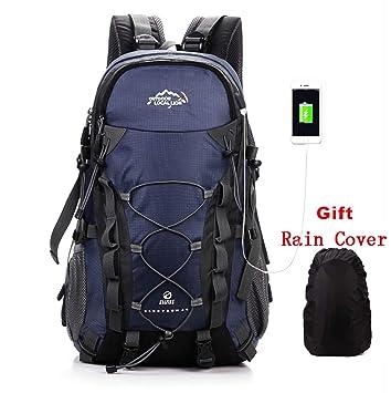 Netchain Deporte al Aire Libre, 40L Viaje Mochila Trekking Senderismo Excursionismo Alpinismo Escalada Camping para Hombre Mujer (4-Azul Oscuro): Amazon.es: ...