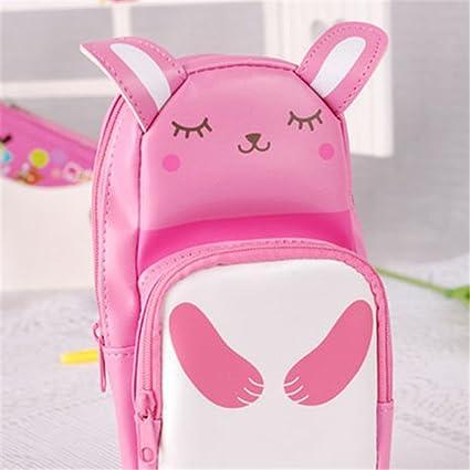 Amazon.com : Panda Pencil Case Rabbit Pencilcase Leather Estuche ...