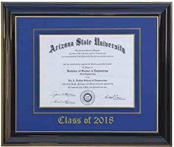 Amazoncom 3art Diploma Frame 17 X 11 Blackblue Customizable