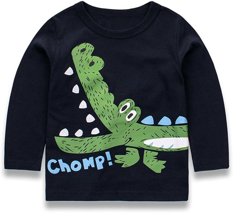 8c10c132e Tkria Little Boys Jumpers Kids Crocodile Sweaters Sweatshirt ...