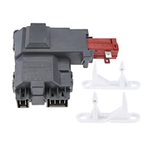 131763202 Washer Machine Door Lock Switch, Replace # 1032664 131763300 & 131763310 Door Striker, Replace # 1032664 131763300, Update Replacement Part Fit for Frigidaire, Whirlpool, Kenmore