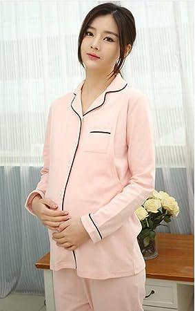 ldmb primavera y otoño pijama de maternidad plena – algodón pijama Maternal posparto Enfermería mama –