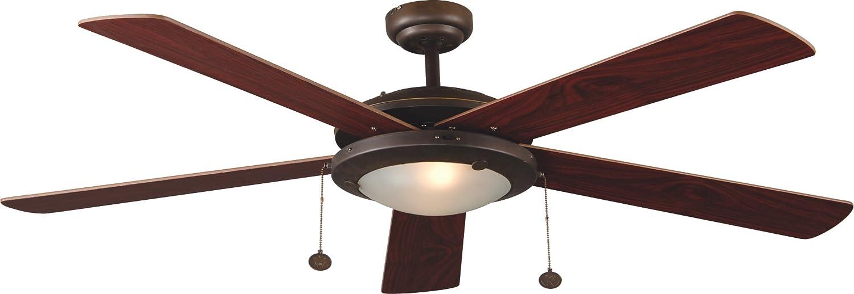 Faro Barcelona 33192- MANILA Ventilador de techo con luz 5 palas marrón MDF reversibles Diametro 132 cm Accionado por cadena