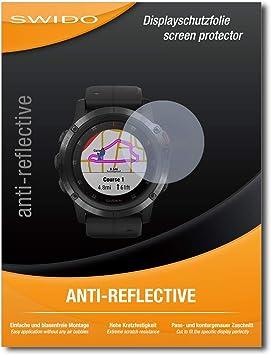 SWIDO 3 x Protector de Pantalla Garmin Fenix 5X Protectores de Pantalla de pel/ícula CrystalClear Invisible