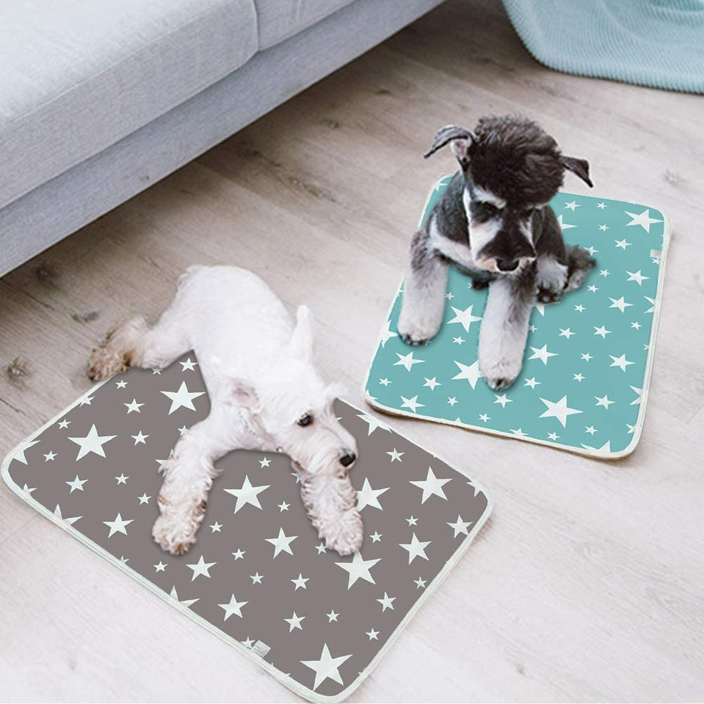Milesaki Reusable Pee Pads For Dogs Washable Puppy Training Pee Pads Absorbent Wee Pet Dogs Cats Pee Mat Mattress Protector