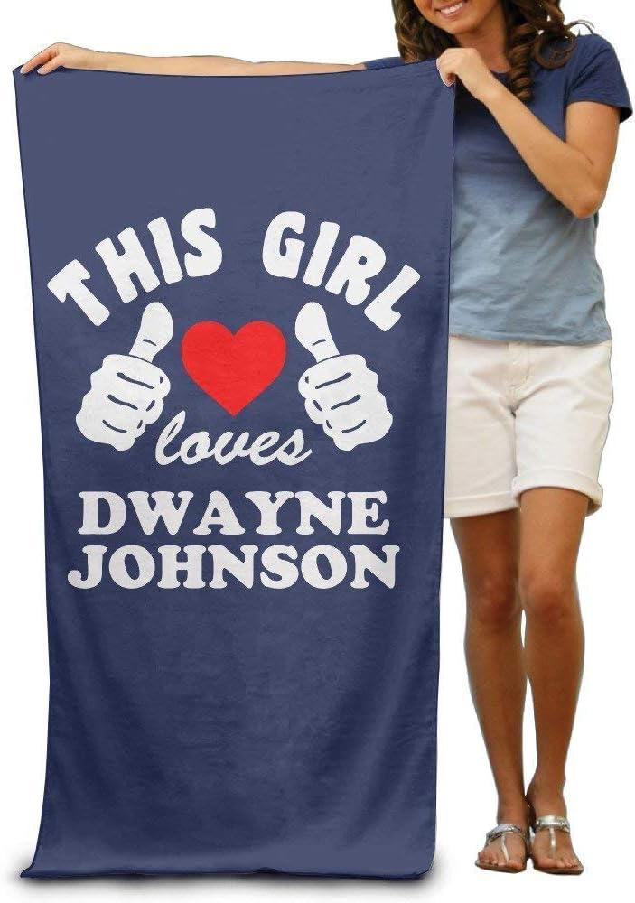Love Dwayne Johnson Adult Colorful Beach Or Pool Bath Toalla 31x51 intch: Amazon.es: Hogar